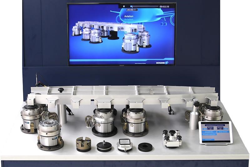 Schunk clamping solutions for aerospace