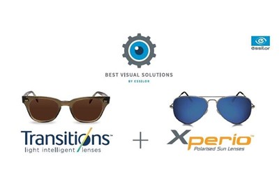Transitions Optical products in Essilor promotion