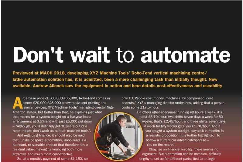 Don't wait to automate