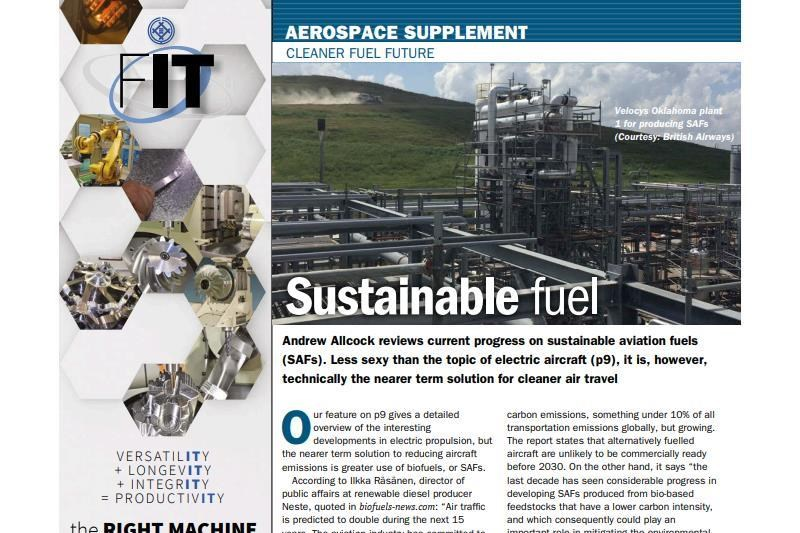 Aerospace supplement - sustainable travel