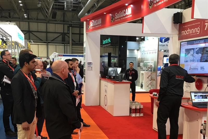 SolidCAM's stand at the last MACH exhibition