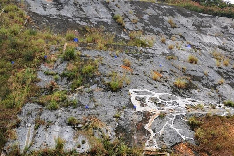 landslide alert platform sensors in place