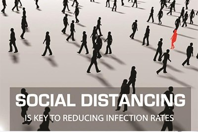 Social Distancing is key to reducing infection