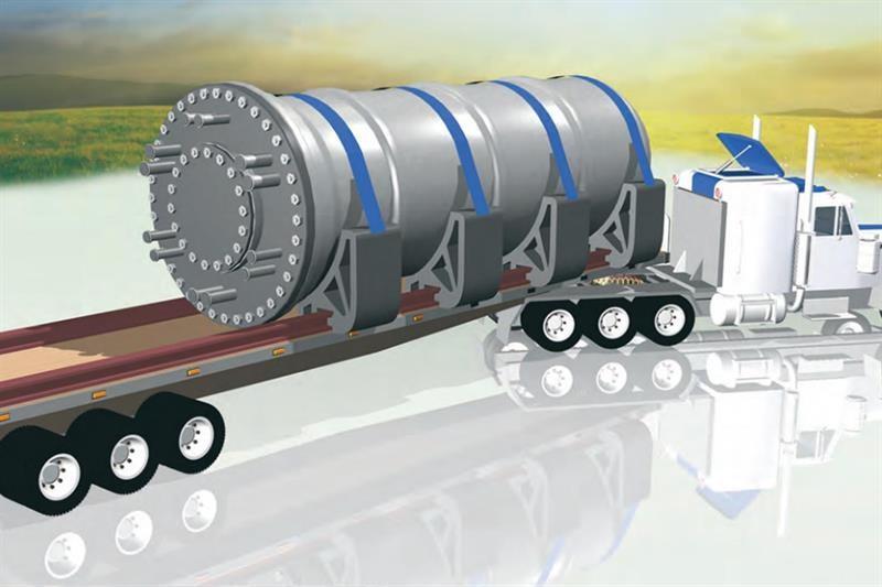 Rolls-Royce SMR on transportation lorry (Rolls-Roy