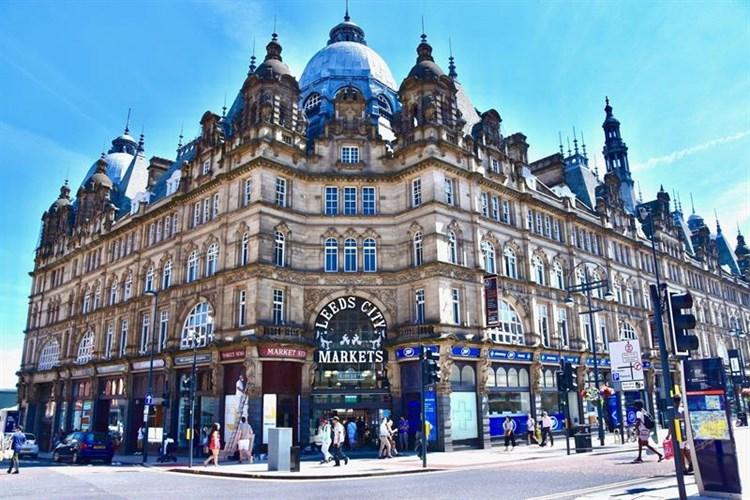 The indoor market in Leeds city centre