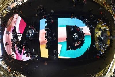 Mido logo on show floor
