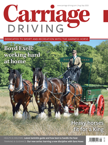 August/September 2020 Issue - Boyd Exell: working hard at home